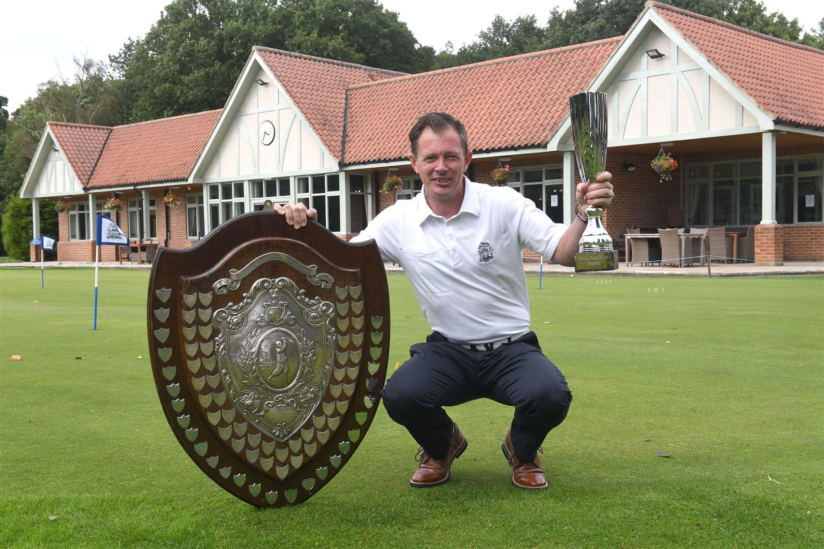 ANT WAGSTAFF, du Newark Golf Club, qui a remporté le trophée individuel de Notts Alliance.