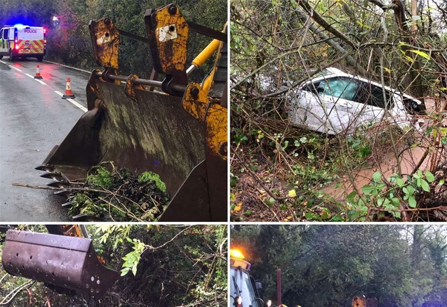 Suspected drink driver, 33, released under investigation after vehicle plunges into dyke