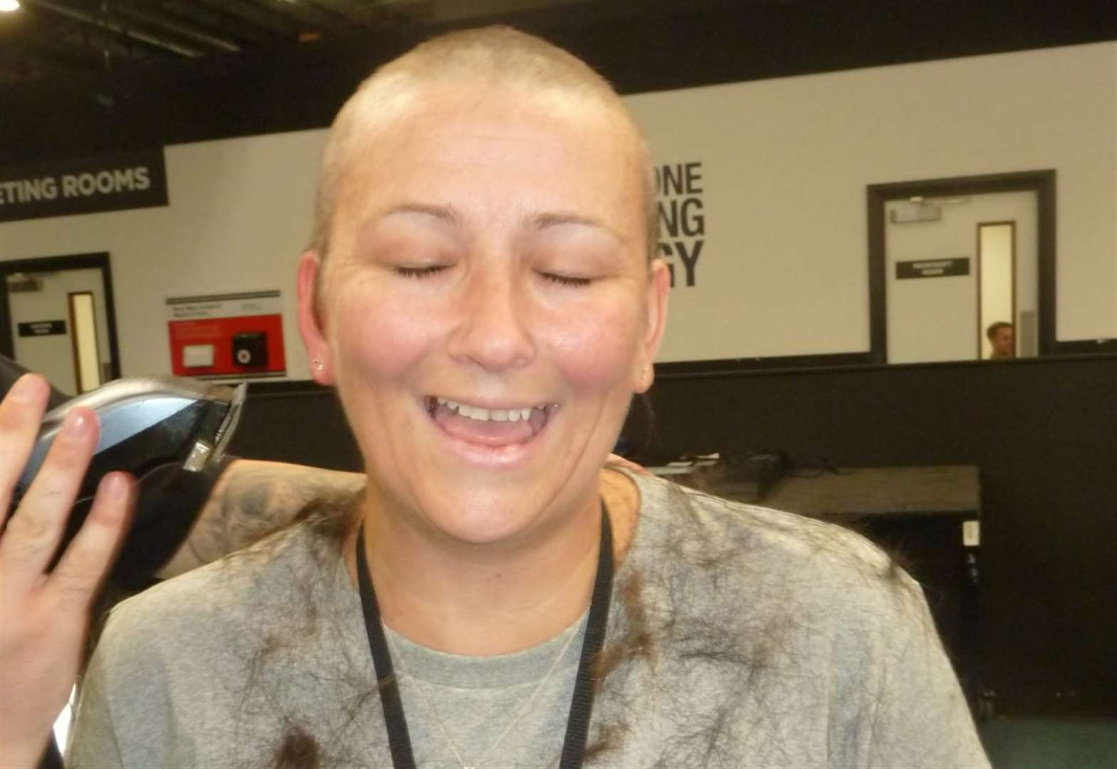 Buzzing after close shave for charity
