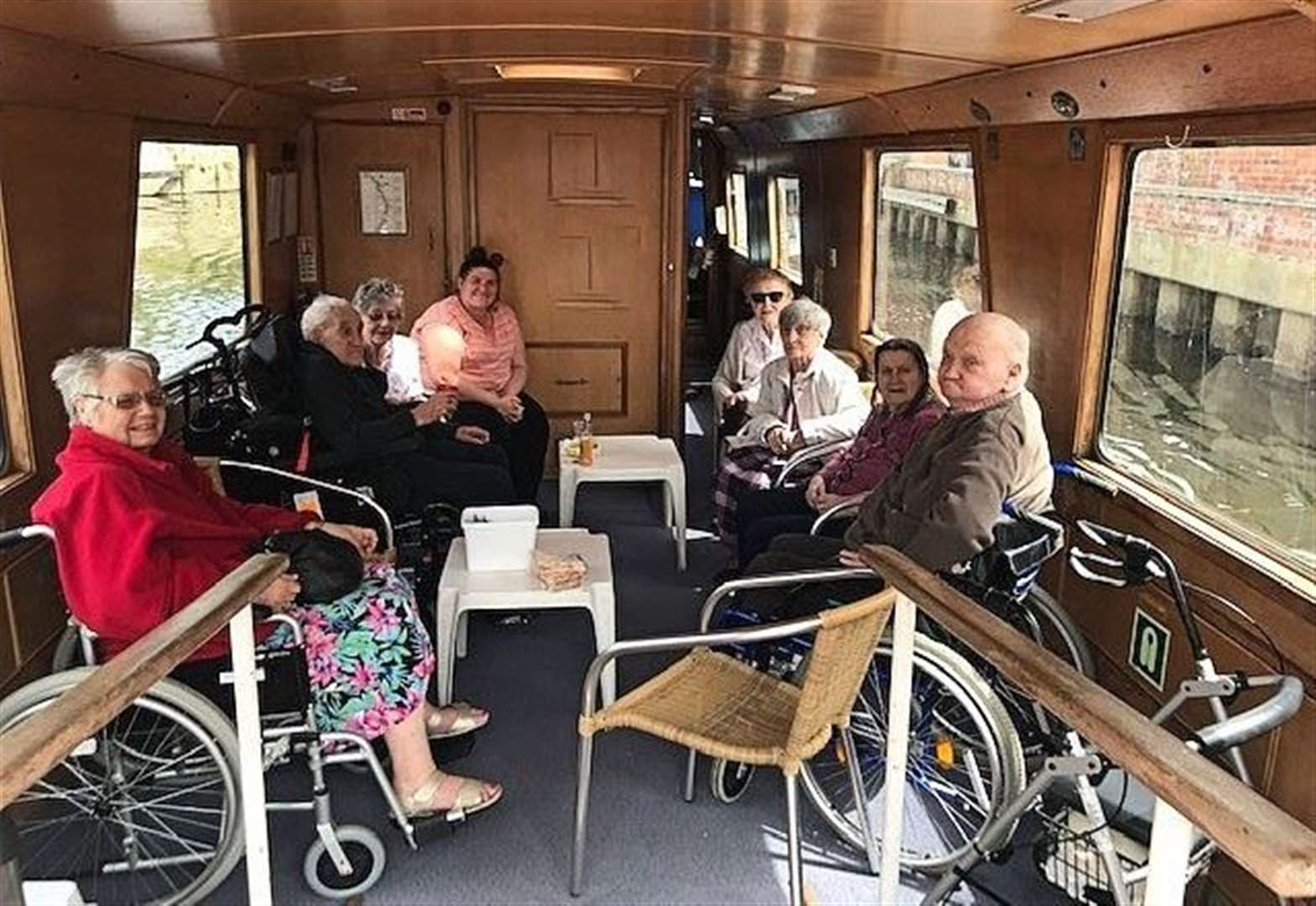 Care home residents get nautical on River Trent boat trip