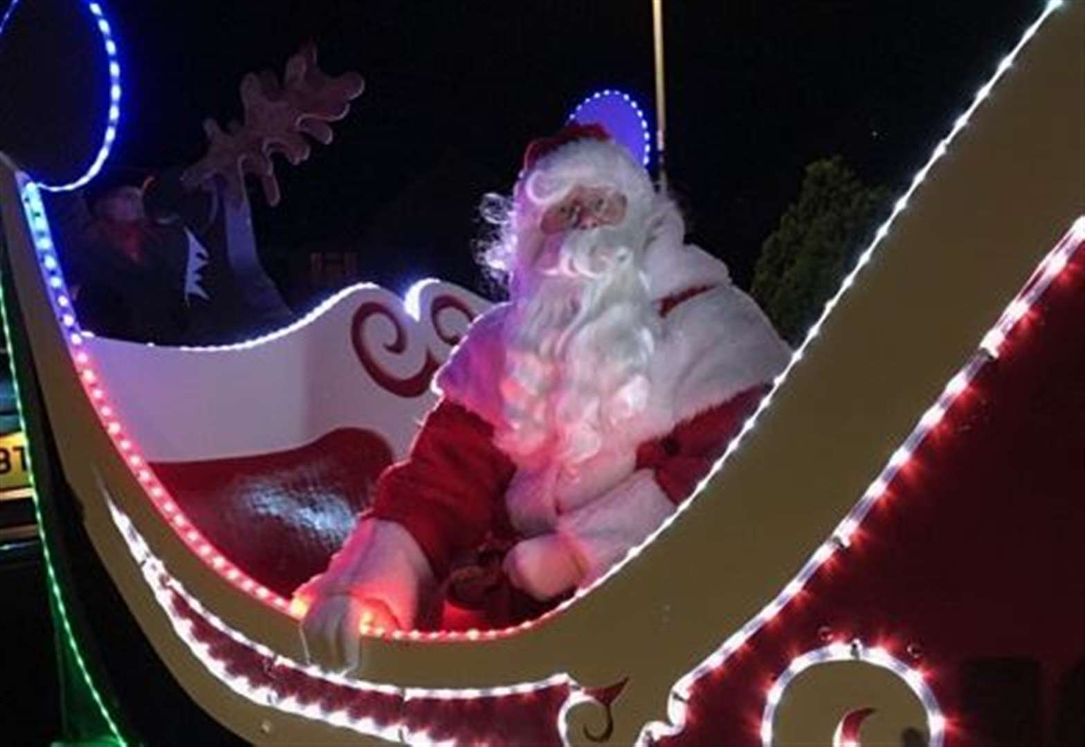 Santa and his sleigh will be collecting for charities
