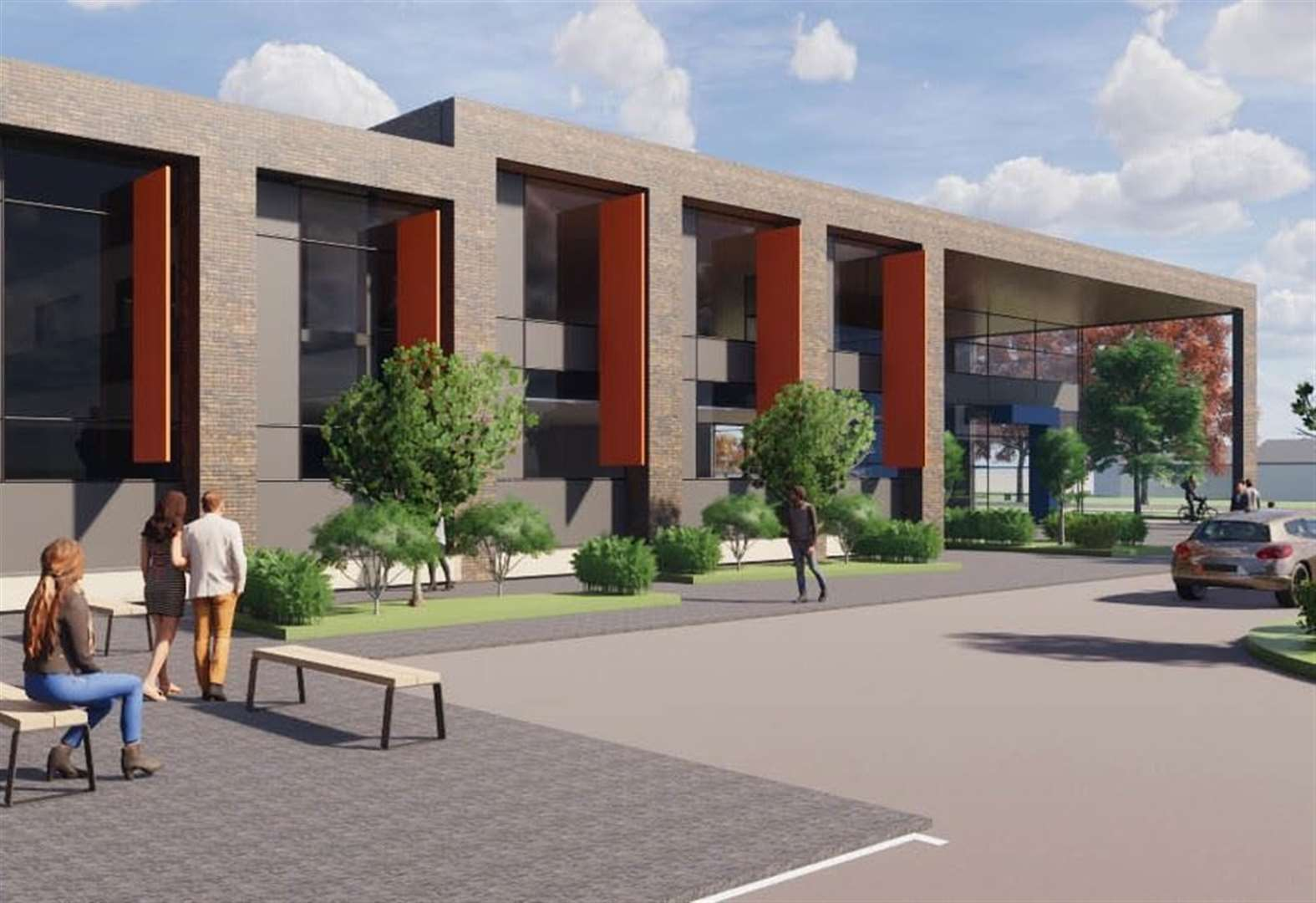 Plans for town hub go on display