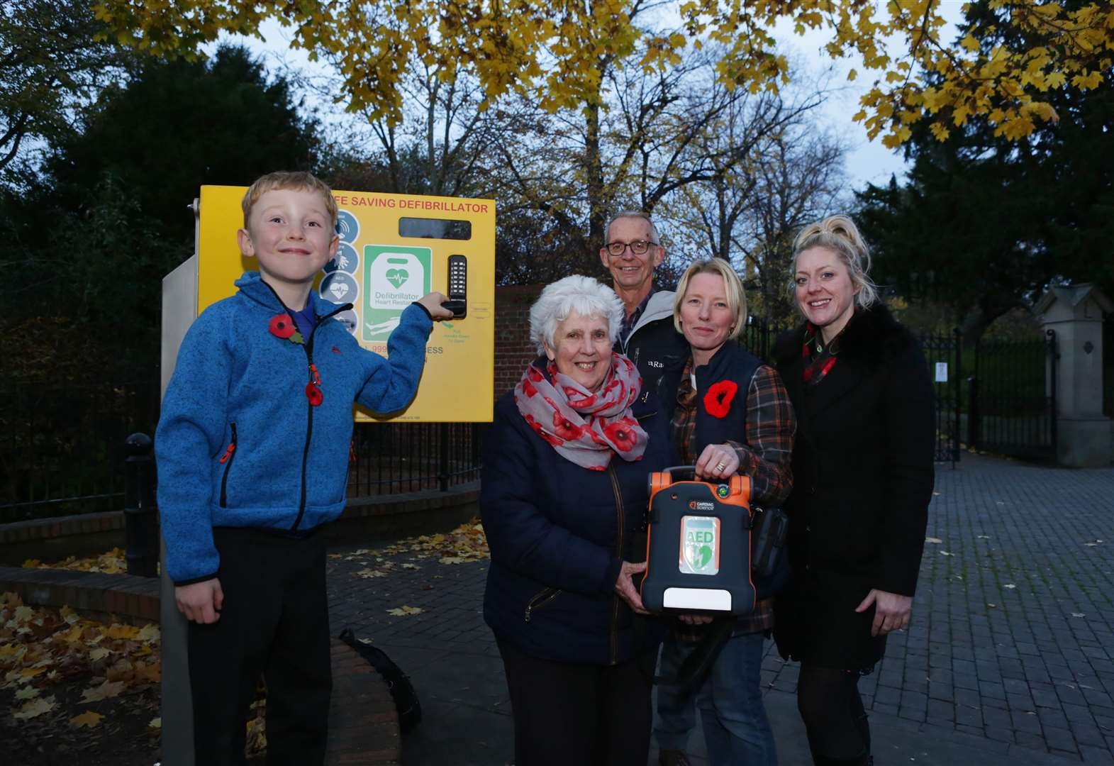 Family proud to see castle defibrillator