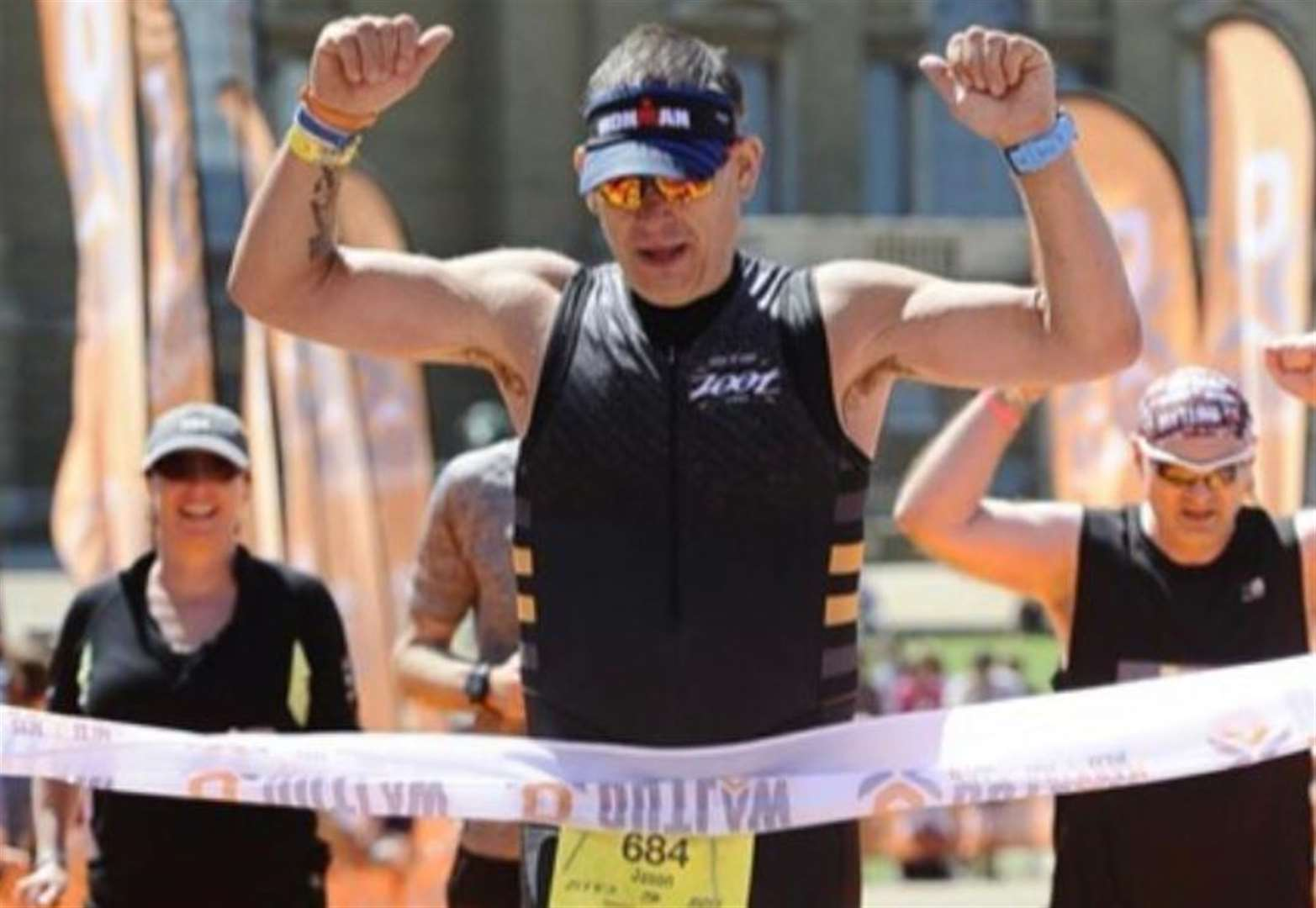 Triathletes defy the heat in Norfolk