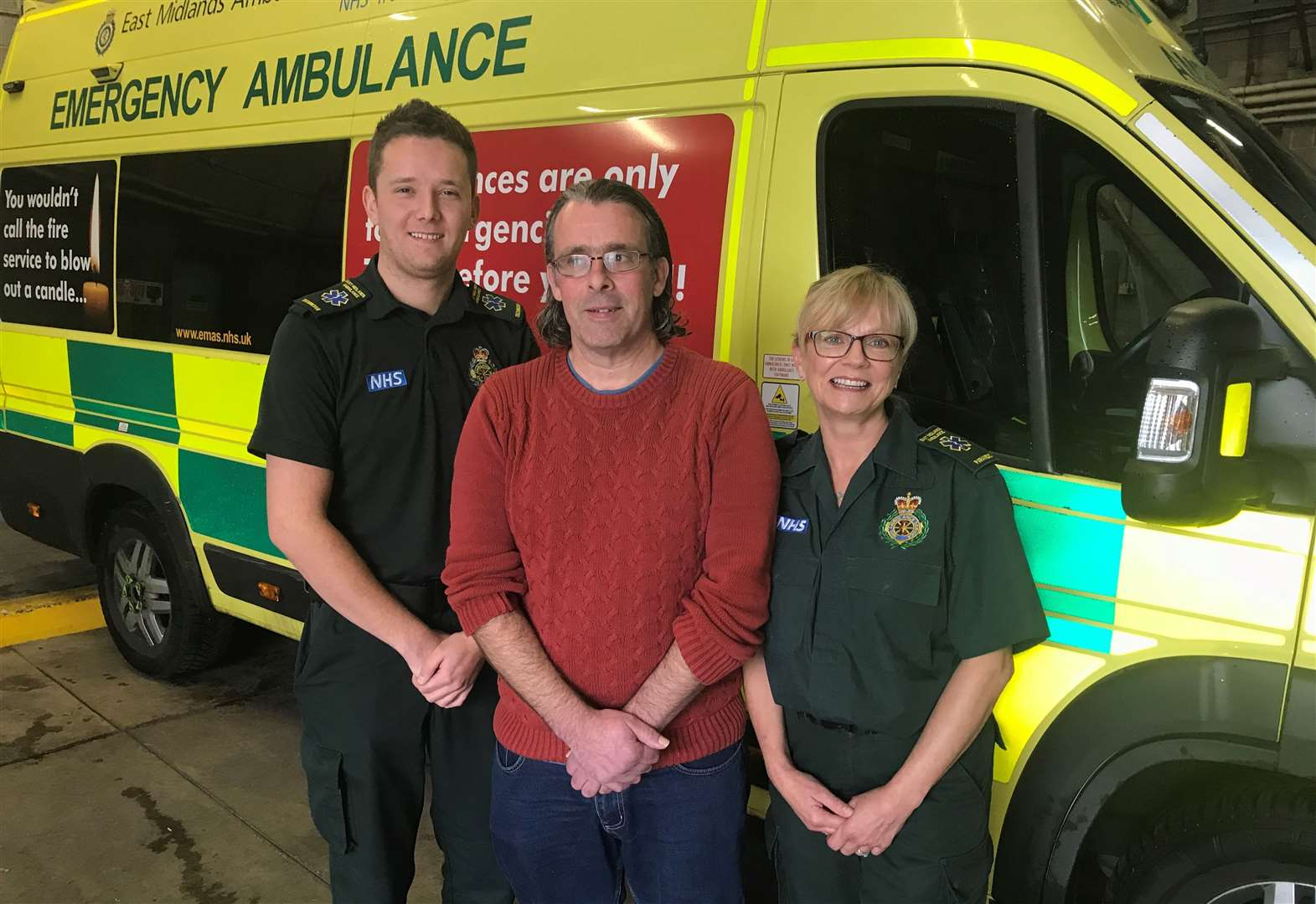 Dad thanks medics who saved his life