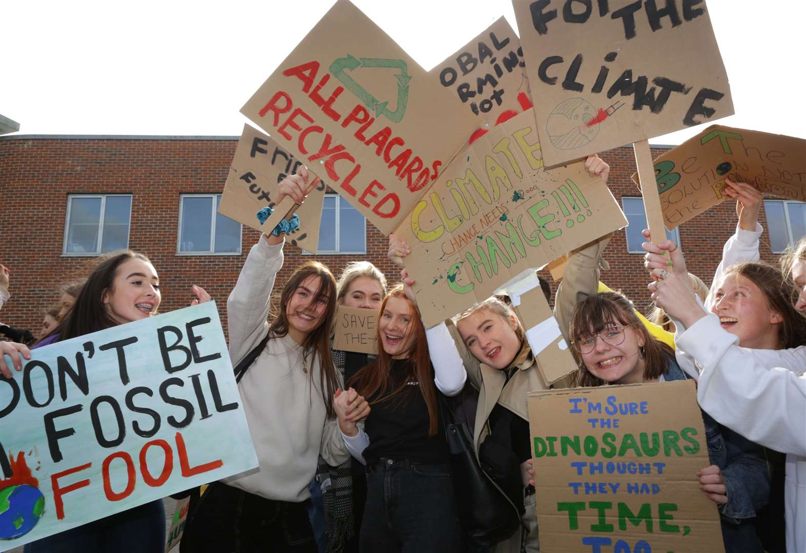 Students join climate change protest