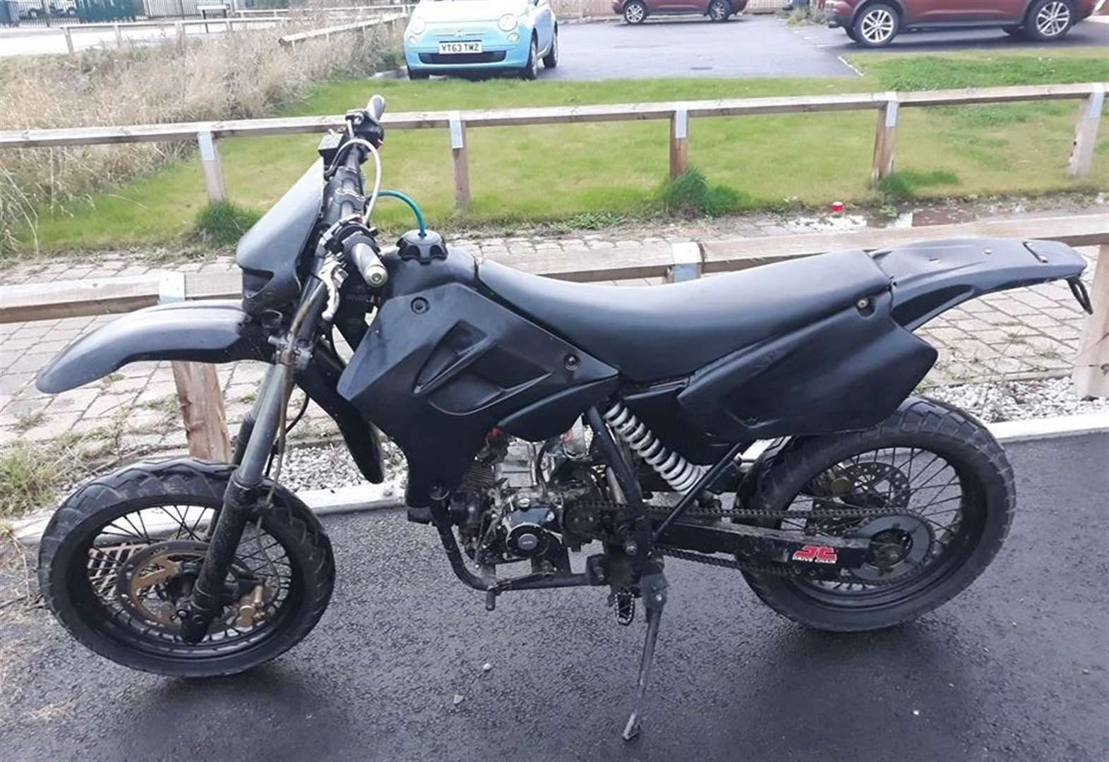 Uninsured and untaxed motorbike seized by police