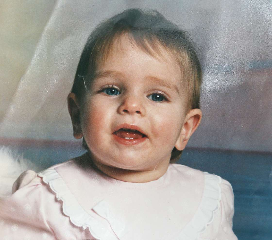 Abbi as a baby when she was a winner in the Advertiser Baby Of The Year competition