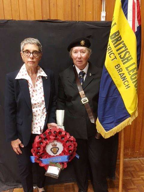 THE representatives of Newark and District branch of the Royal British Legion, Carol Bryan, left, and Lauren Hulican.
