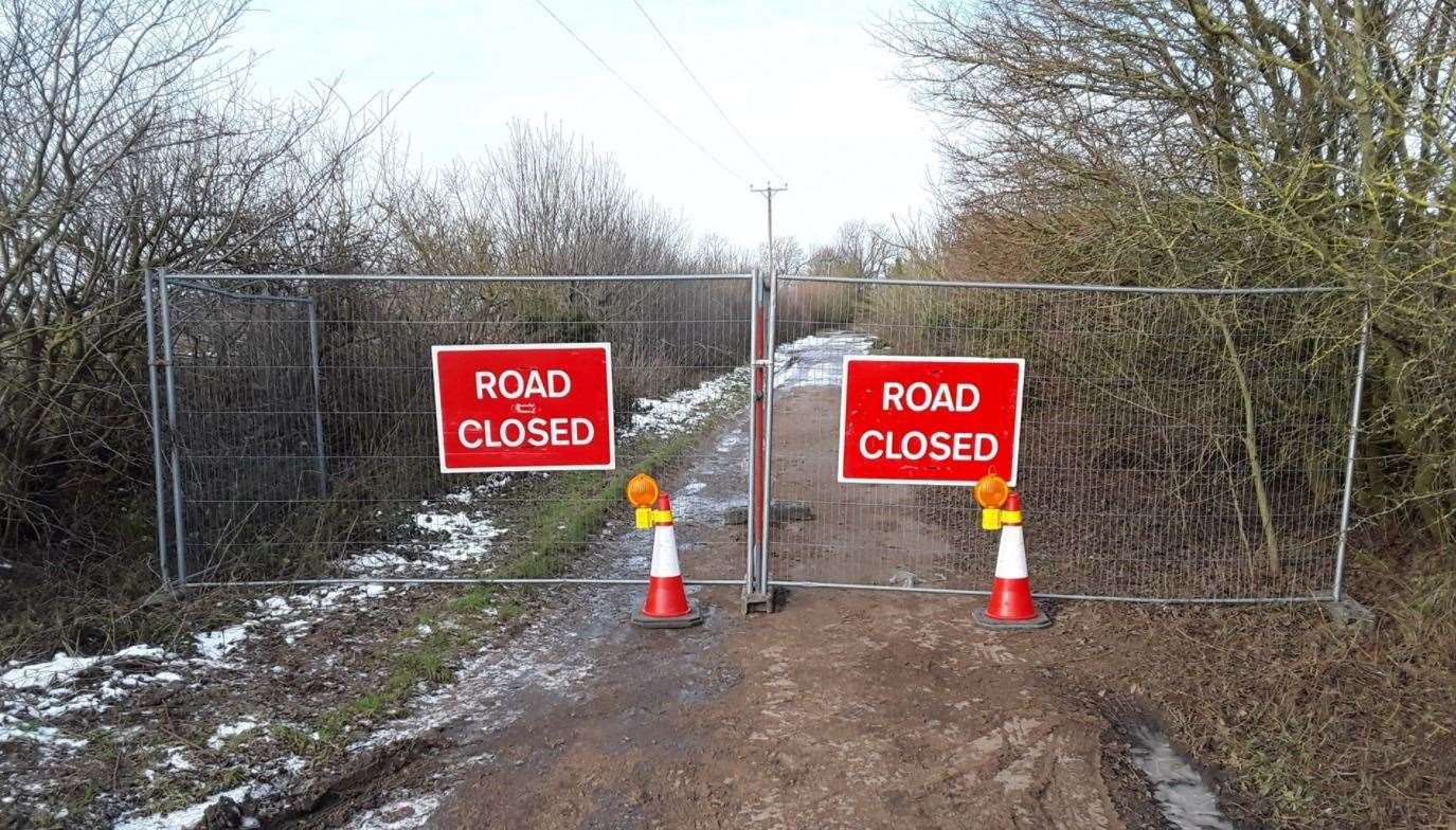 THE closed lane in Collingham. Images courtesy of Nottinghamshire County Council(44404497)