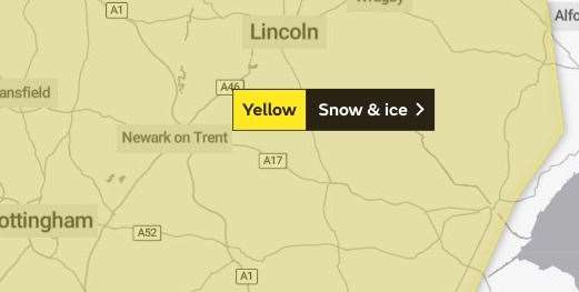 Snow and ice weather warning for Saturday (43966840)