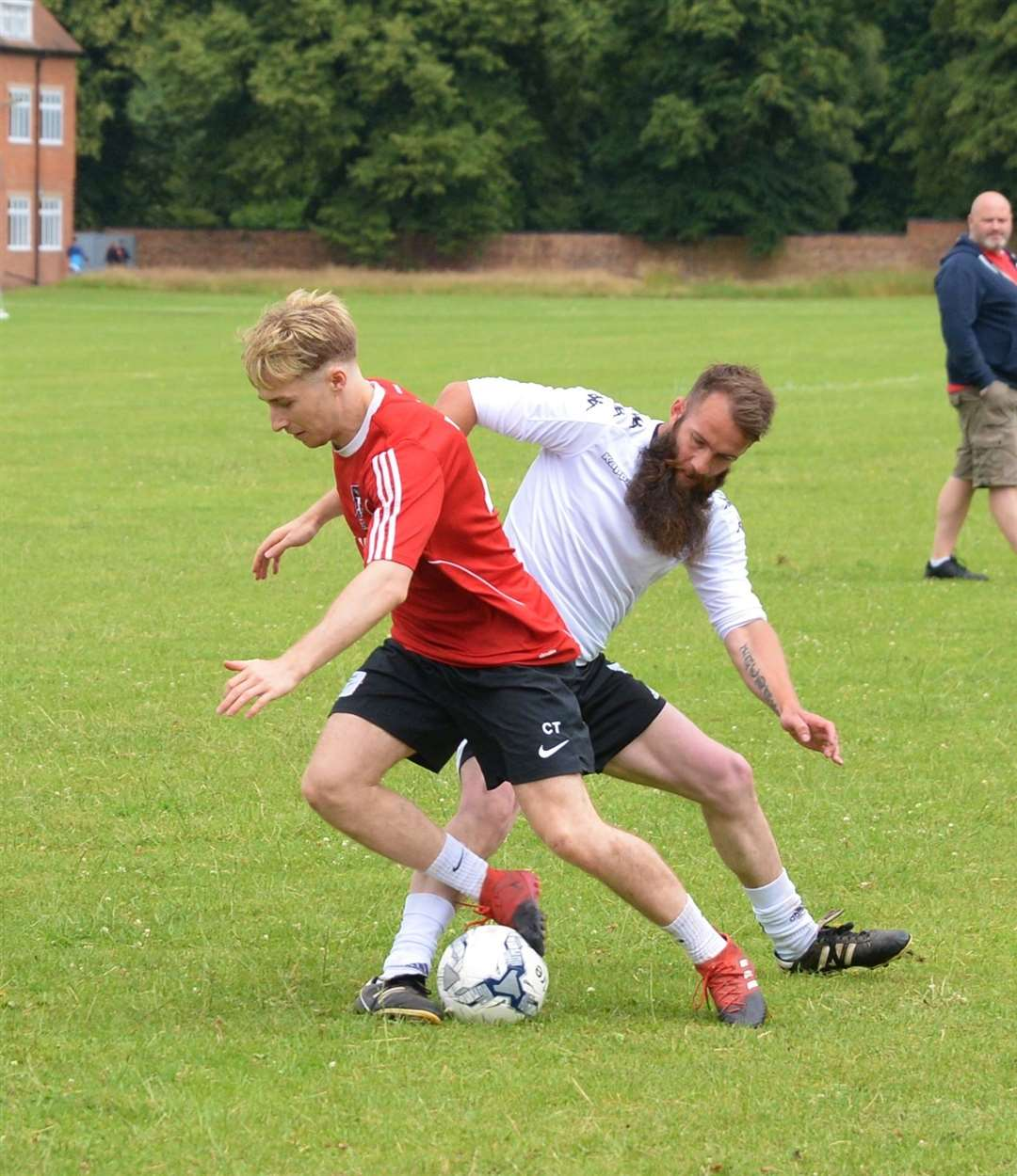 The Advertiser's Connor Thompson in action against Average Joe's. 060719DC1-11 (13519857)
