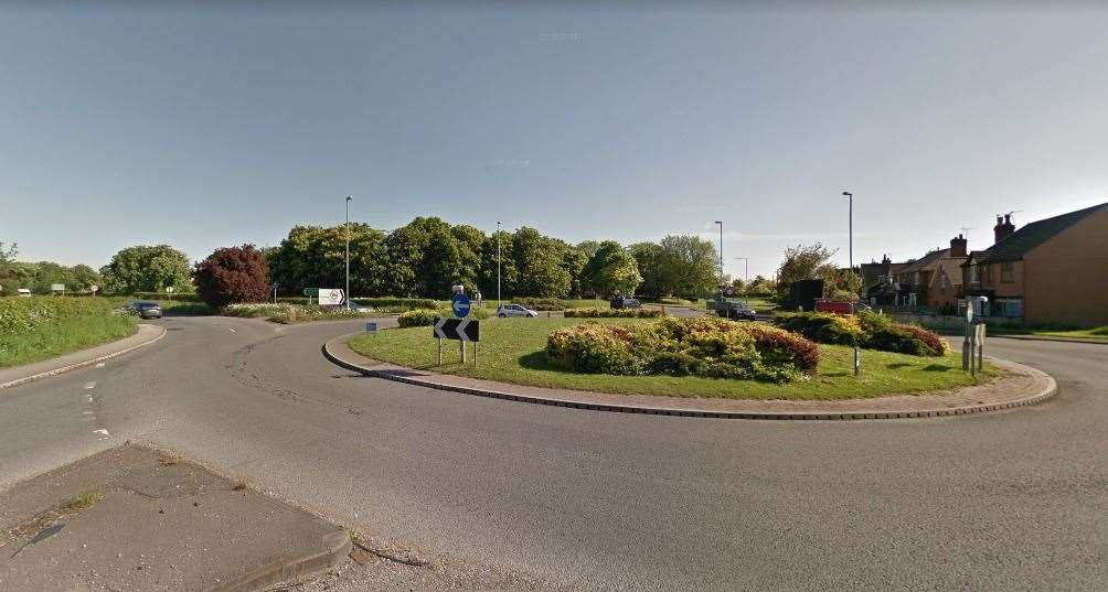 A view of the A612 and A6097 roundabout at Lowdham. Credit: Google Maps (42969922)