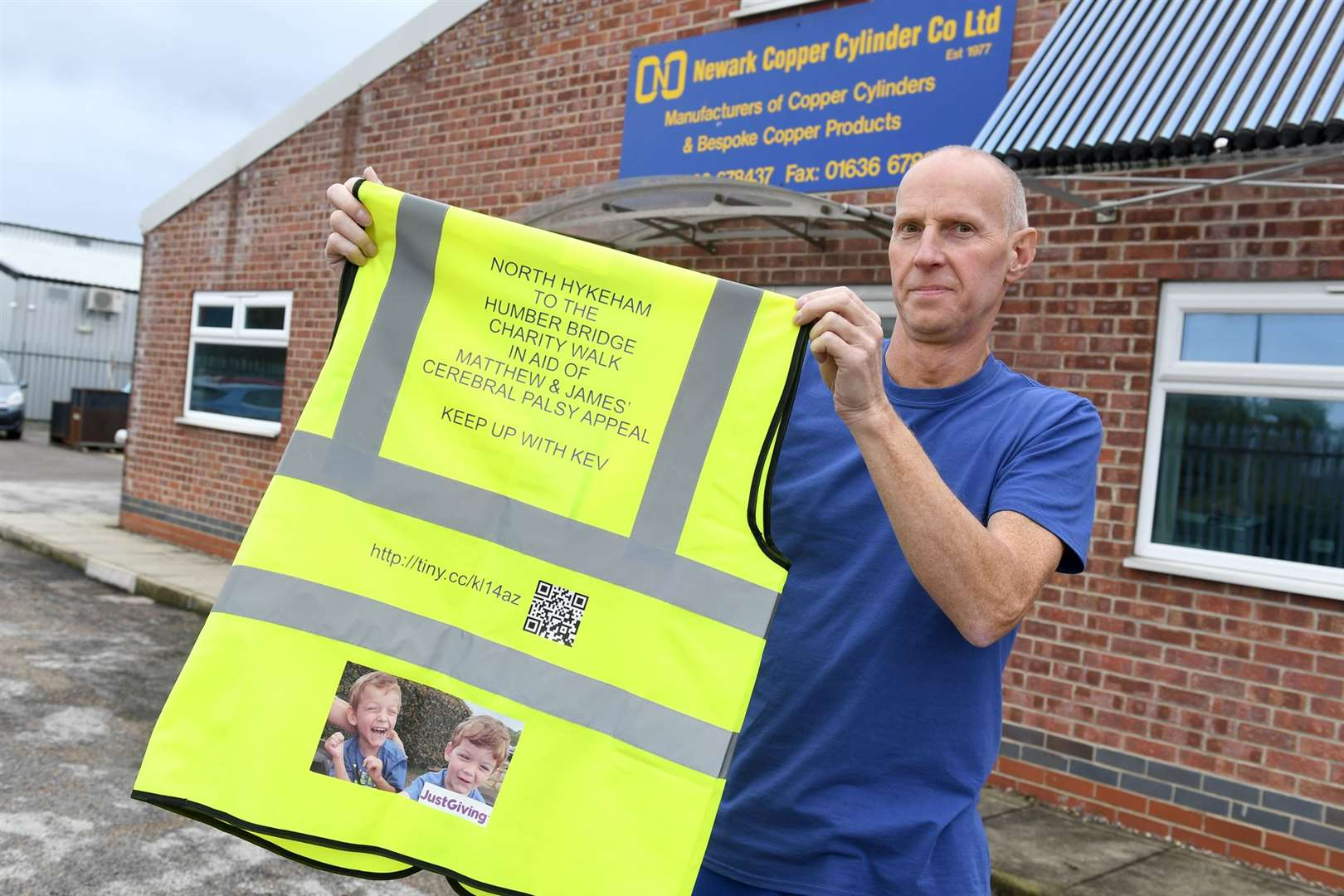 Kev Hempsall is walking from North Hykeham to the Humber Bridge in aid of twins with cerebral palsy 151019DD2-6.