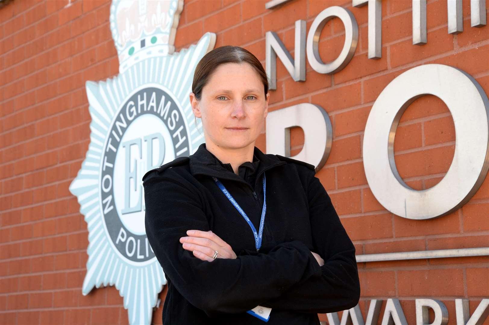 Newark and Sherwood's Commanding Officer for Police Inspector Charlotte Allardice.