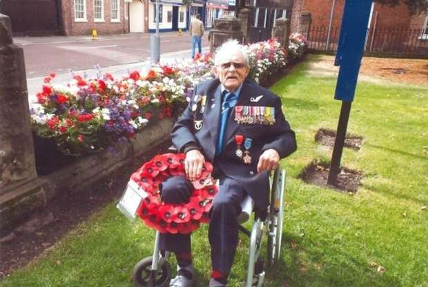 Jim Auton at Remembrance Day.