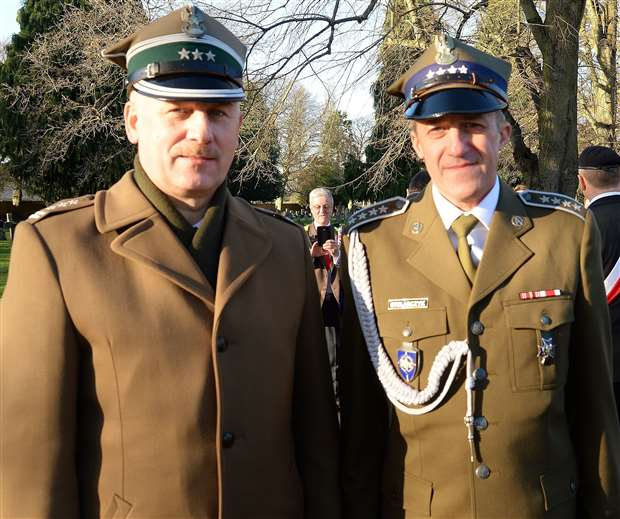 Polish Defence Attache Colonel Mieczysia Malec and