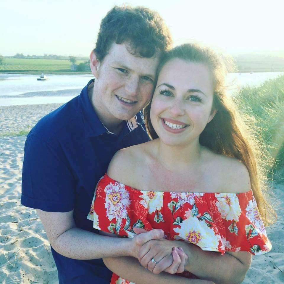 EUAN PARSONS and Laura Taylor who will share their wedding day with Prince Harry and Meghan Markle.