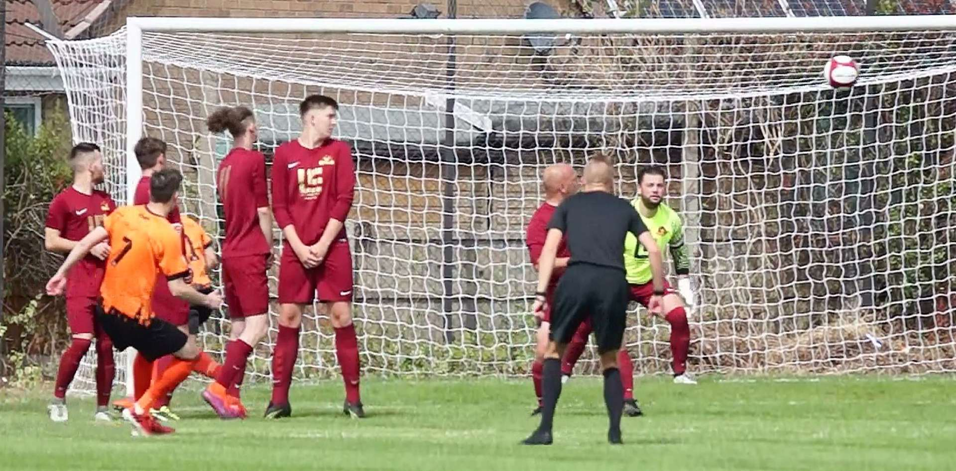 Danny Meadows curls home a free-kick. PHOTO: Mick Gretton