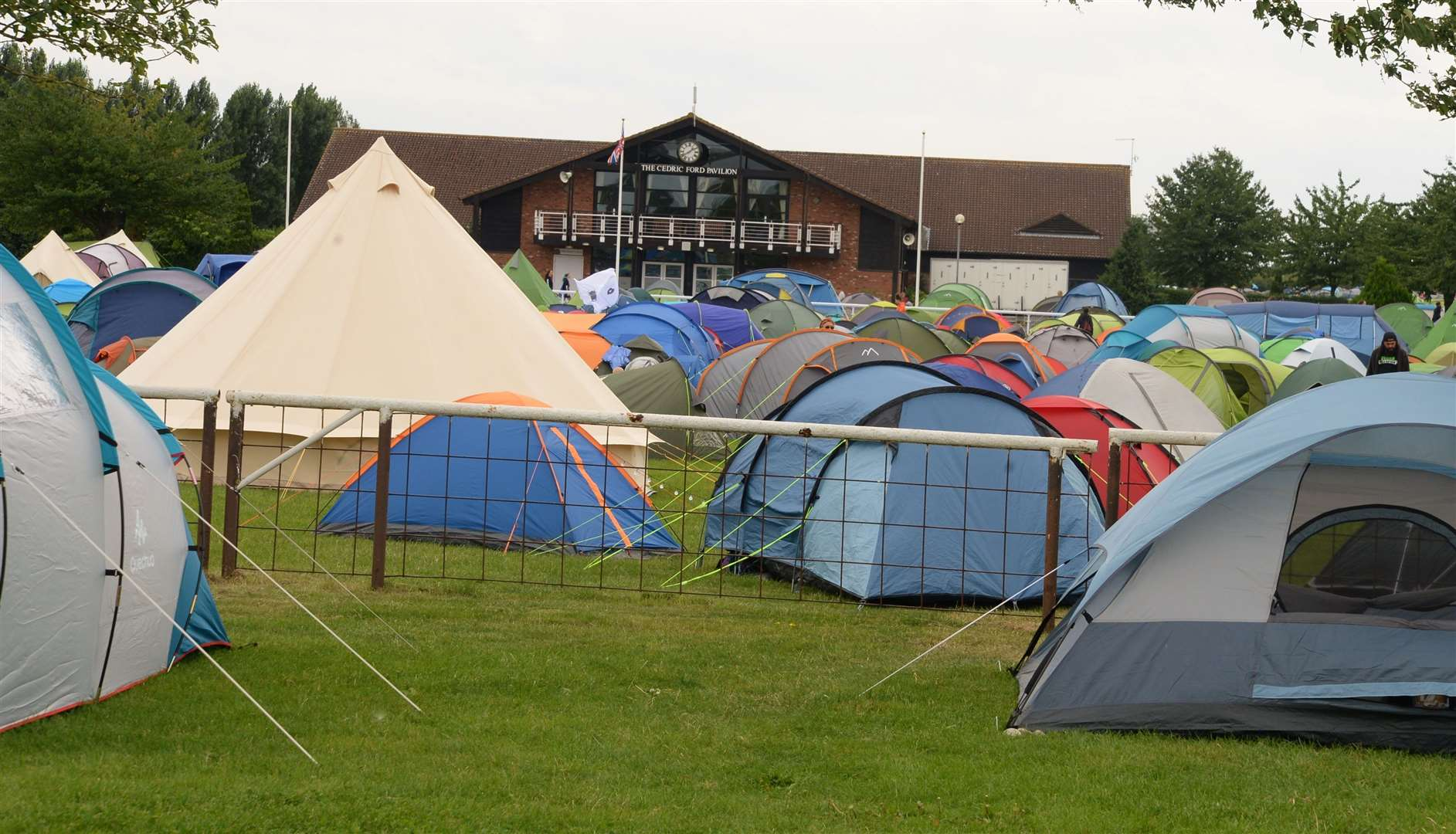 Tents filled the Newark Showground for the Vegan Camp Out. 310819DC4-4 (15984795)