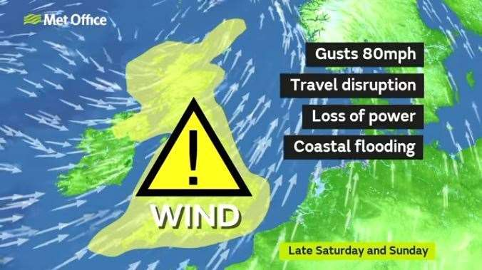 Yellow weather warning issued as Met Office forecasts a windy weekend ahead