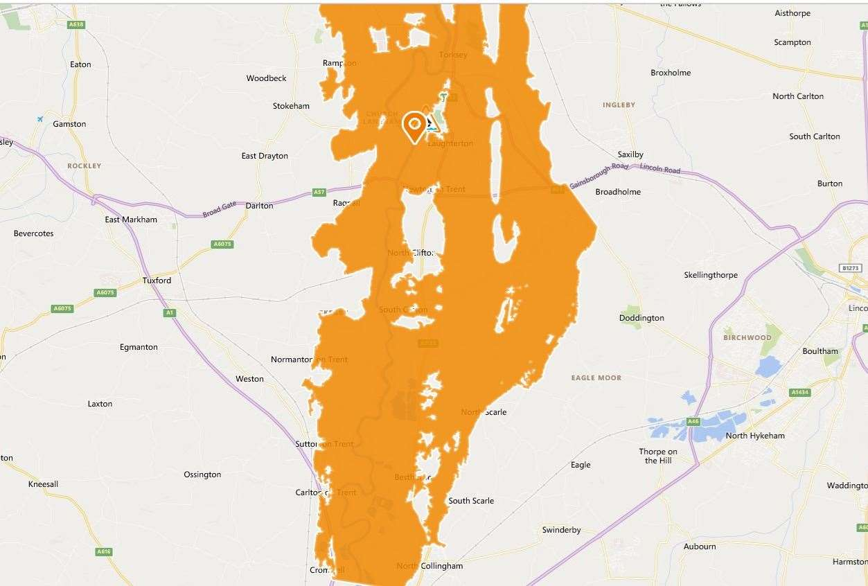 The Environment Agency have issued an amber flood warning near Newark. (29210315)