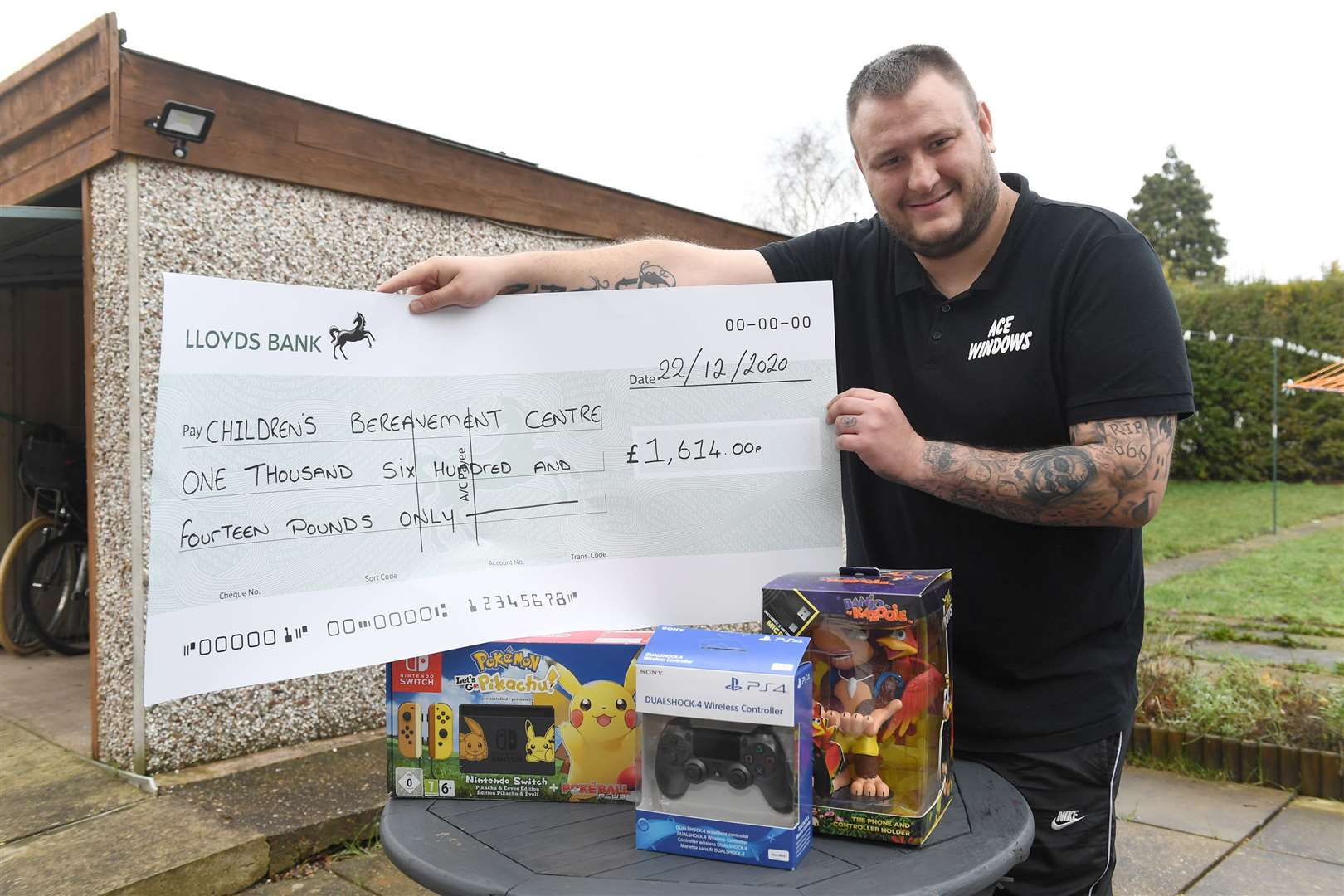 Paul Reavill who has raised money for Children's Bereavement Centre, by holding a raffle on his facebook page, Games Room.