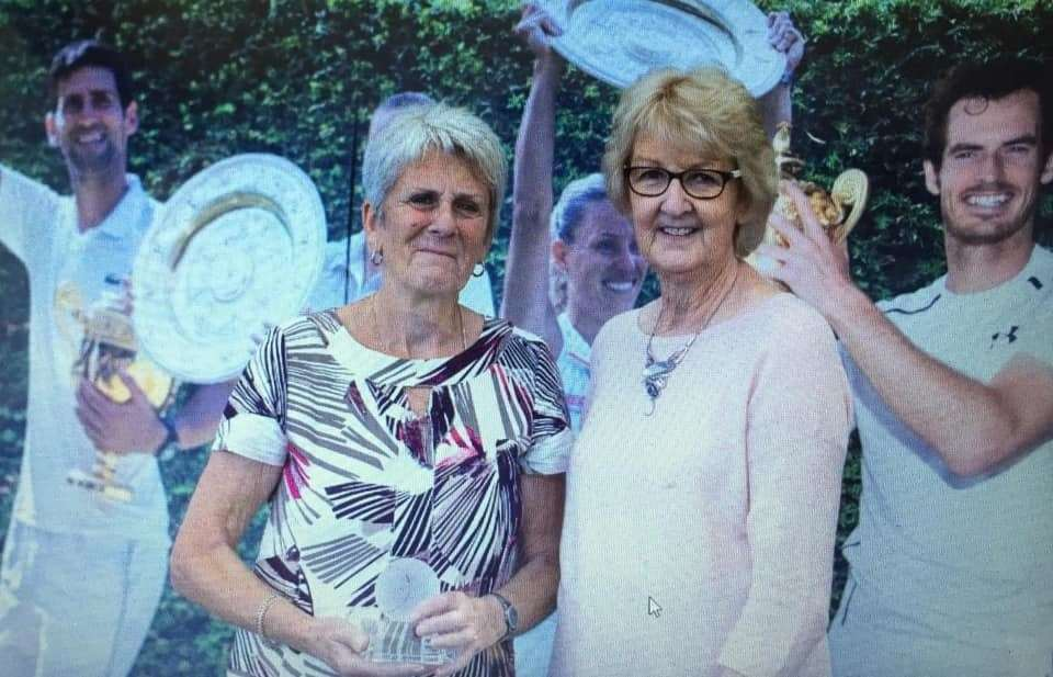 Sue Bilton, of Newark Tennis Club and Kathy Sabin OBE, the first female president of the LTA (13228083)
