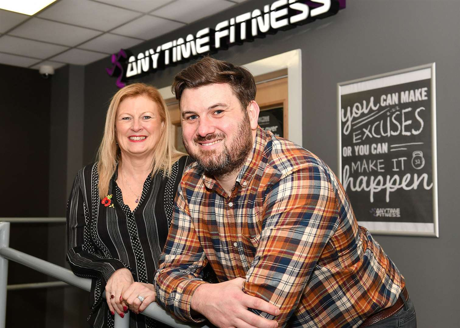 Julie Taylor and her son Michael are looking forward to relaunching Anytime Fitness in Newark (43163401)