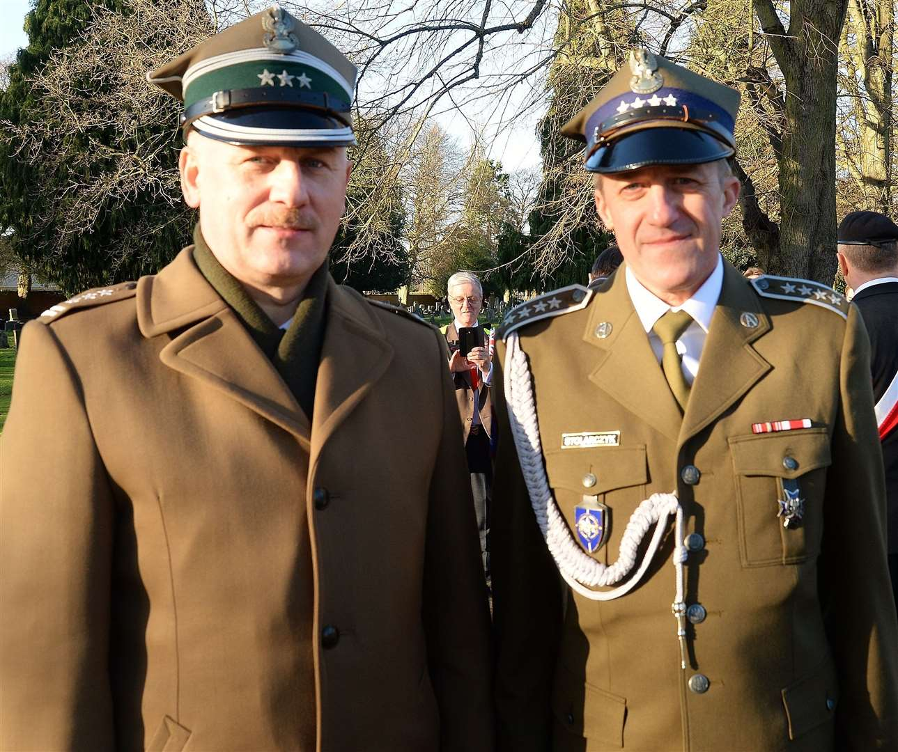 Polish Defence Attache Colonel Mieczysia Malec and his aide, Warrant Officer Chris Stolarczkk.(28526960)