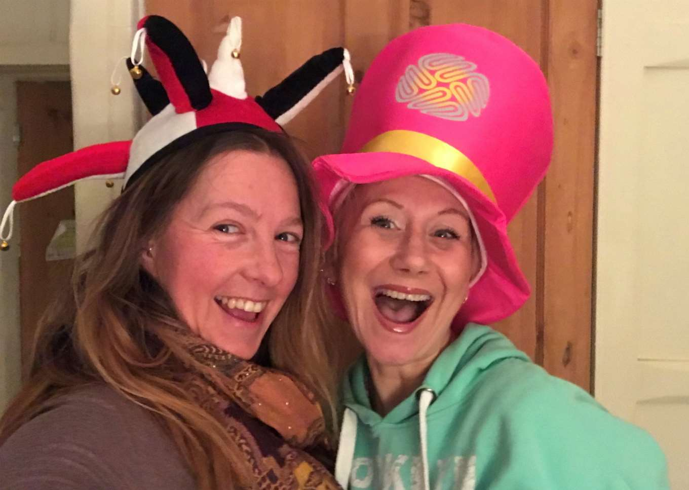 Michelle Spriddell (left) and Alicia Costello, who are organising a Wear A Hat fundraising event at The Full Moon, Morton