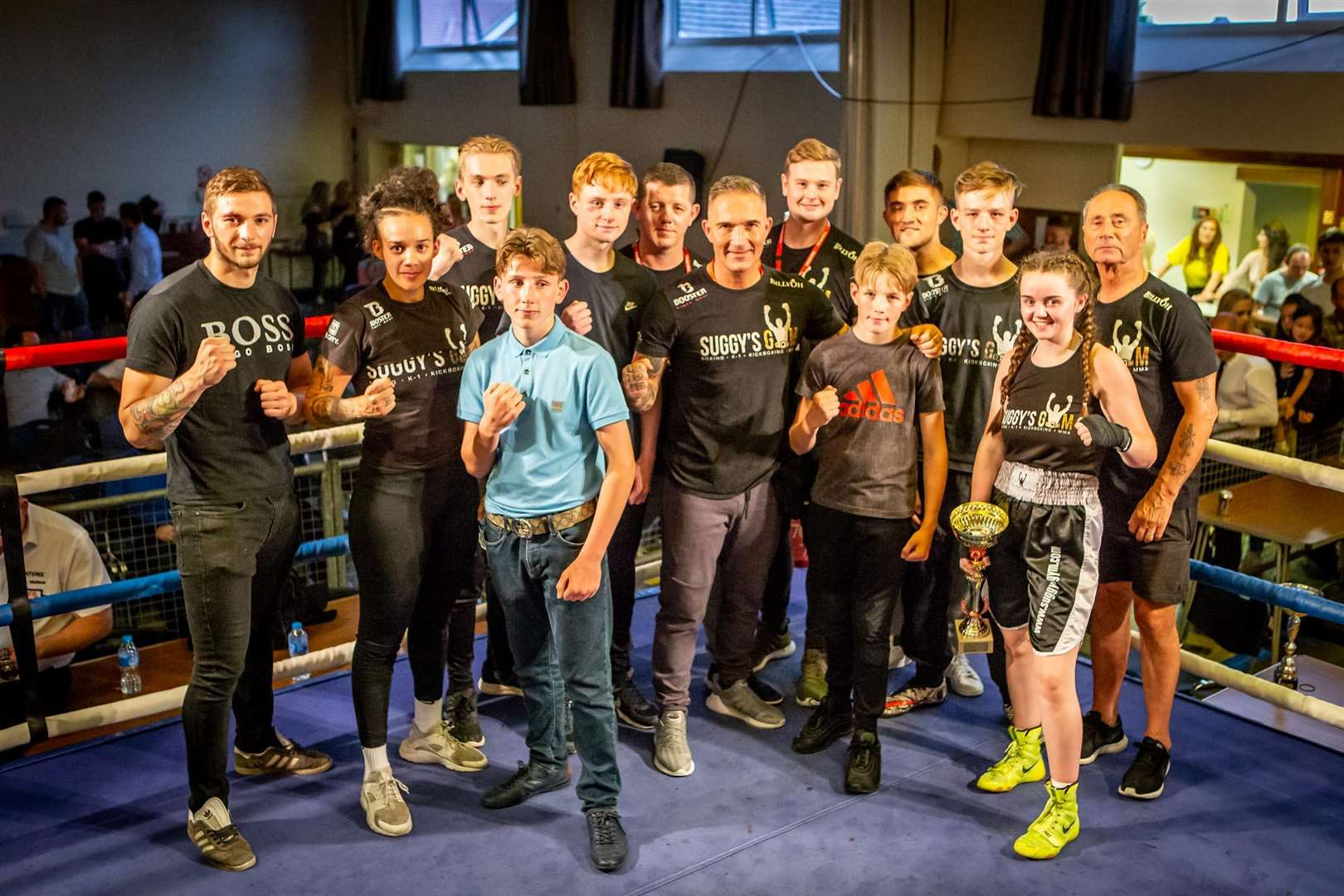 Fighters from Newark Amateur Boxing Club after the show.