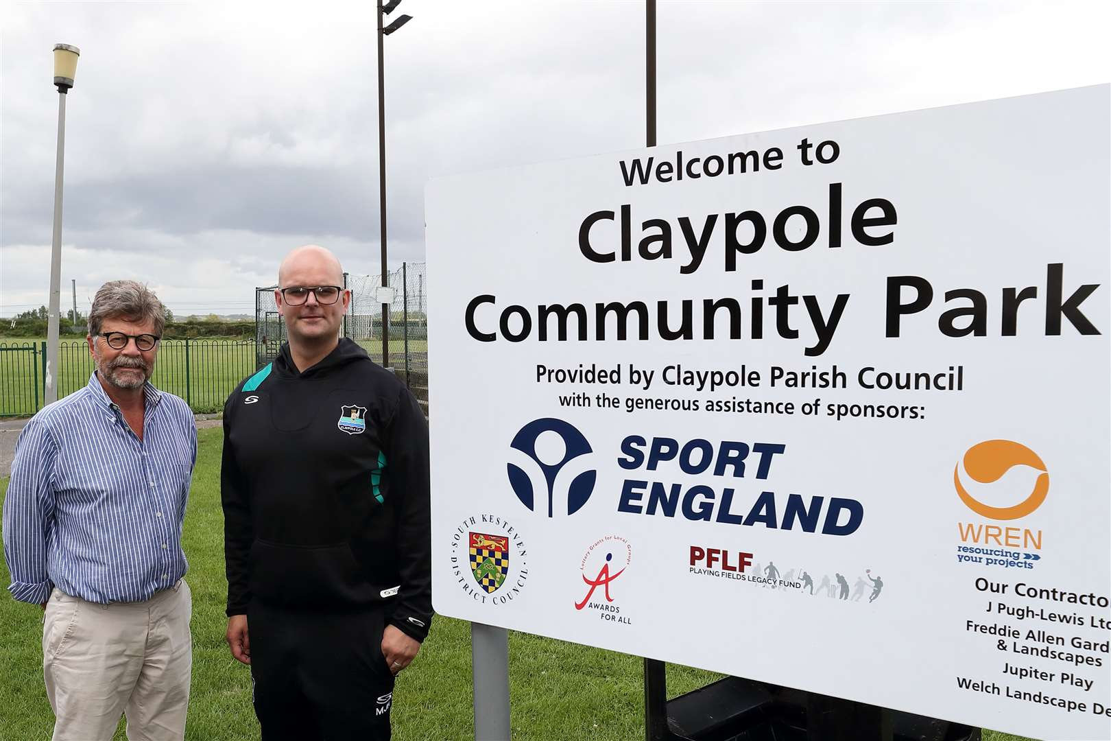 John Freeman and Matthew Revill of Claypole CC after Claypole CC reached an agreement to move back to Claypole Community park (14557963)
