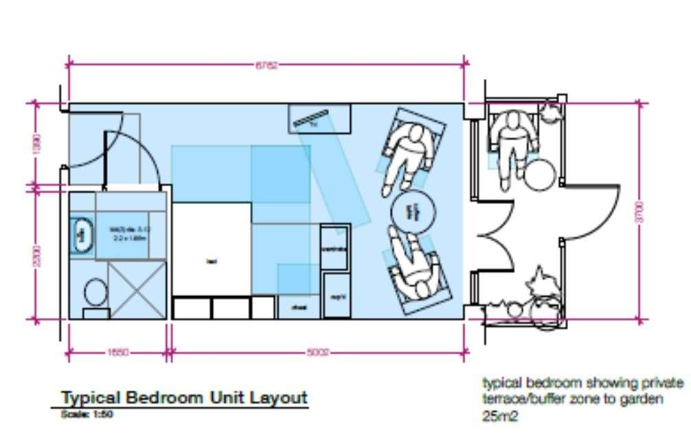 Typical bedroom layout.  (51030859)