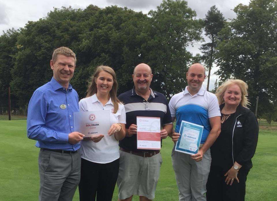 Paul Thornton General Manager, Emily Rowbottom England Golf, PGA Rob Macey, PGA Richard Strange & Jackie Macey