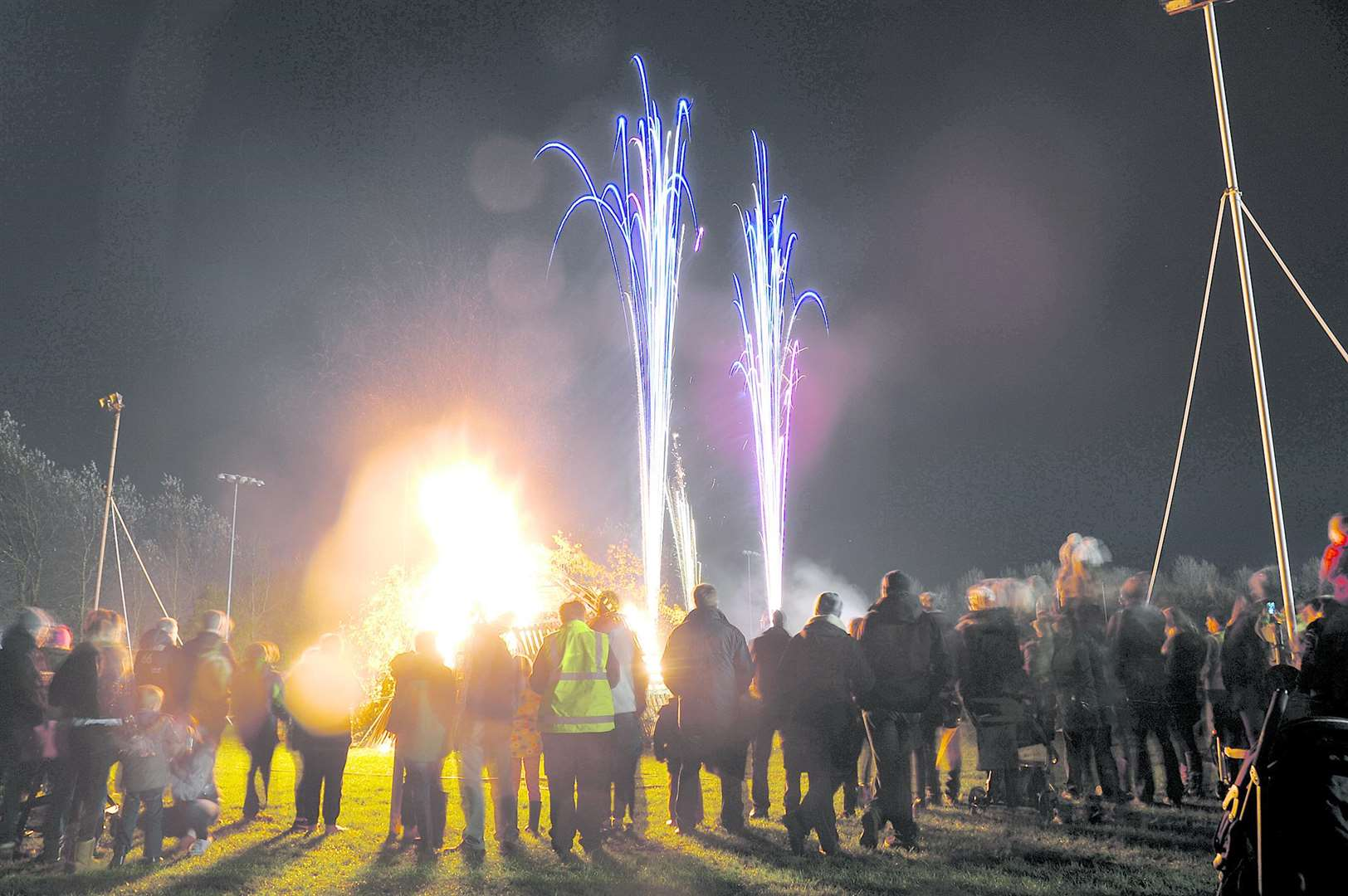 Firework display and bonfire at Newark Rugby Club.