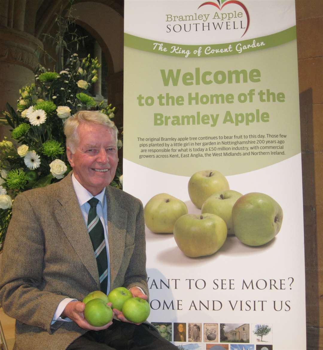 The chairman of Southwell's Bramley Apple Festival, Roger Merryweather, is looking forward to this year's event