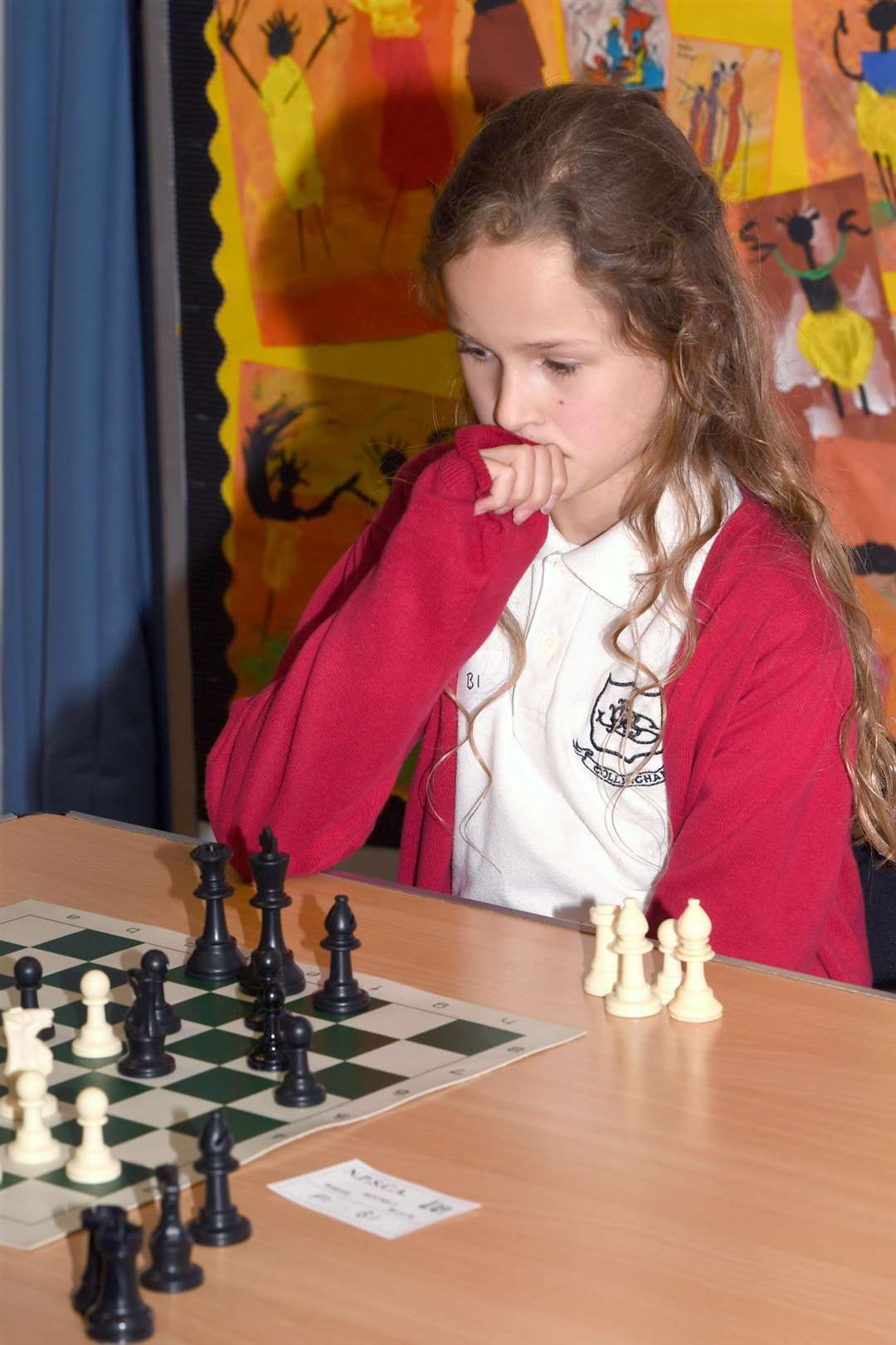 Start of School's Chess Competition, at John Blow Primary School..Isabella Shand (John Blow School, Collingham). (5571631)