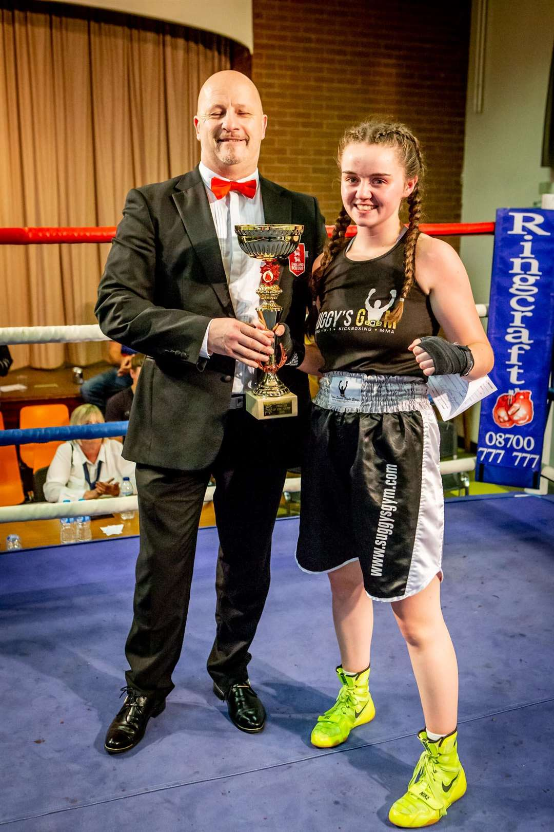 Megan Williams was crowned boxer of the night.