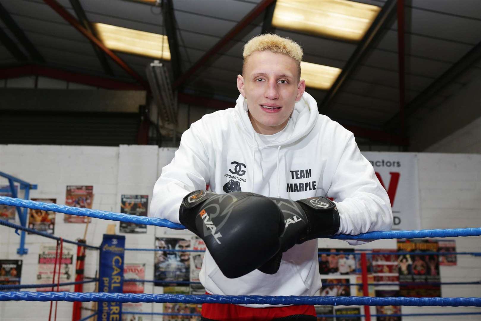 Boxer Olly Marple is next in the ring on September 15 at Leicester City's King Power Stadium.
