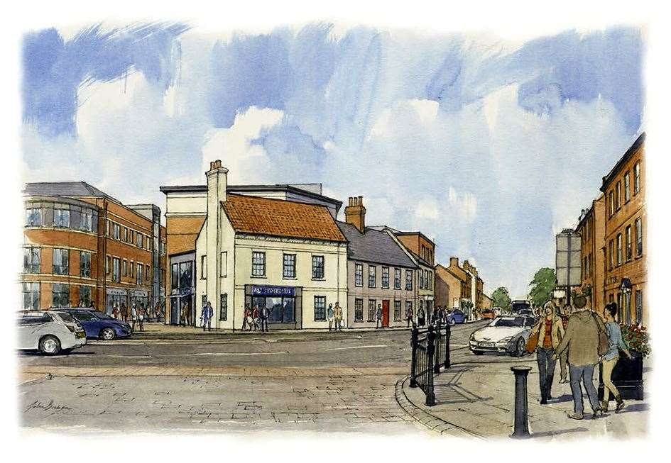 Artist impressions of the proposed Robin Hood Hotel site.. (16781327)
