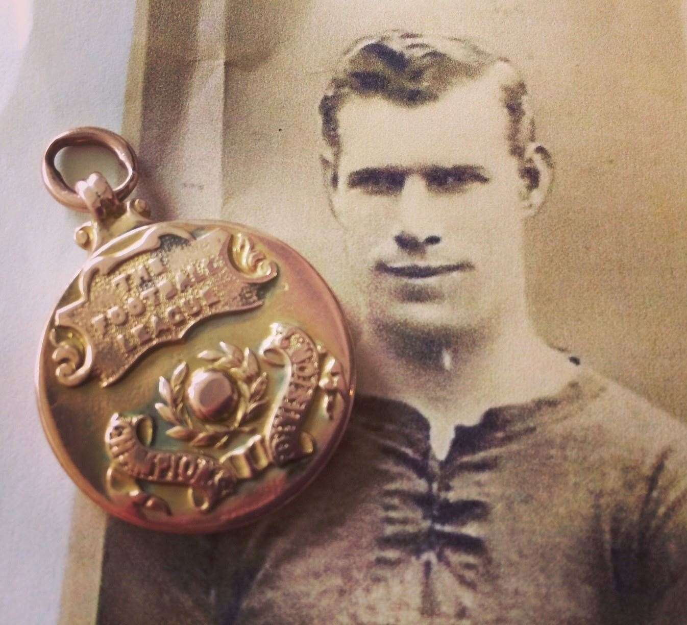 Jack (John) Wren and his Notts County Medal - credit Hansons (8489269)