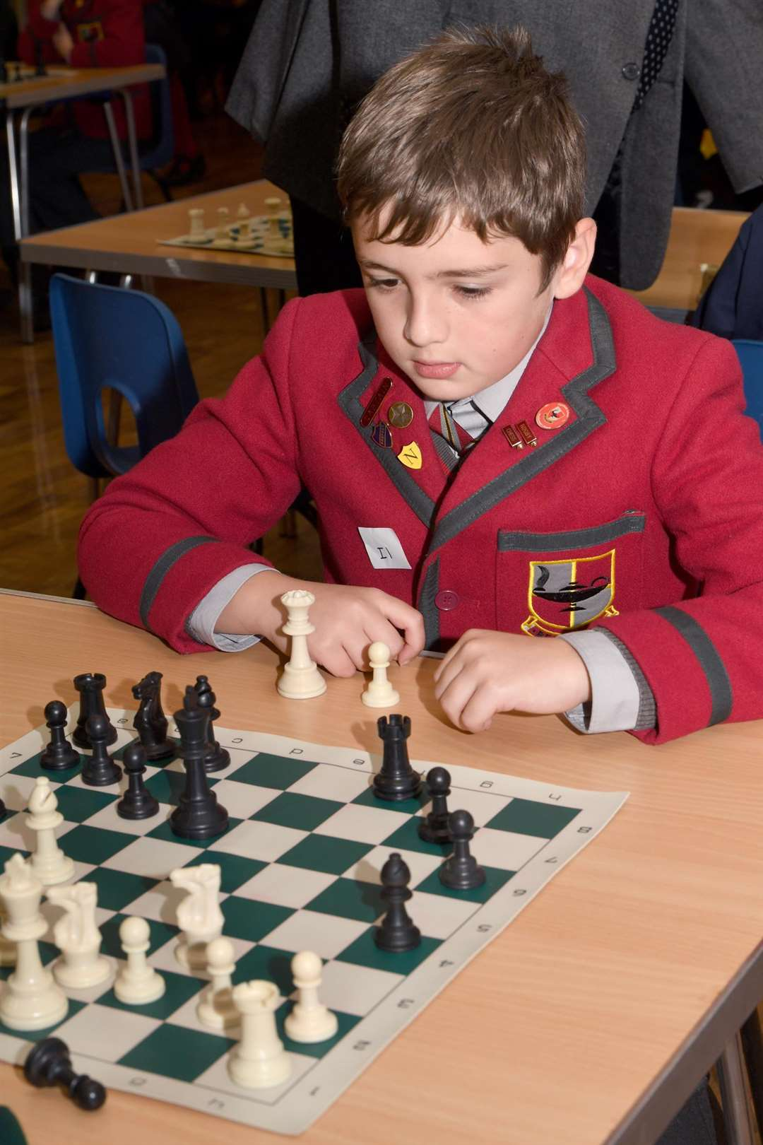 Start of School's Chess Competition, at John Blow Primary School..Hugo Godfrey (highfield School). (5571550)