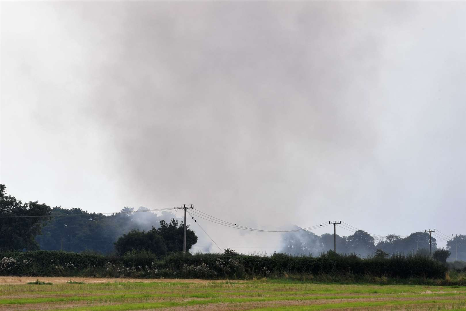Nottinghamshire fire crews are attending an agricultrual fire in Coddington.(15798379)