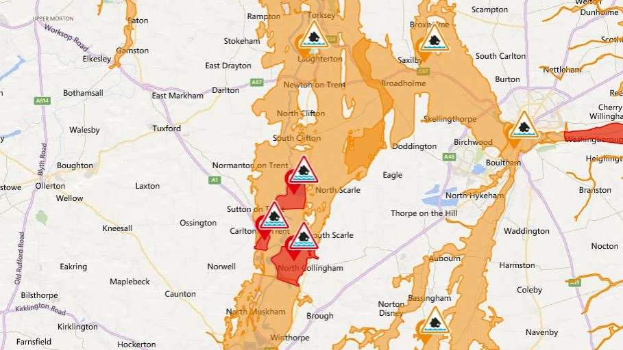 Flood warning issued by the Environment Agency (21613161)