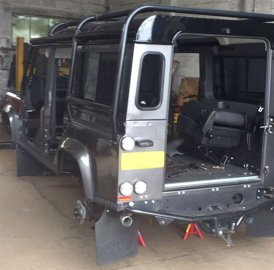 Thieves Strip Parts Off Rare Land Rover