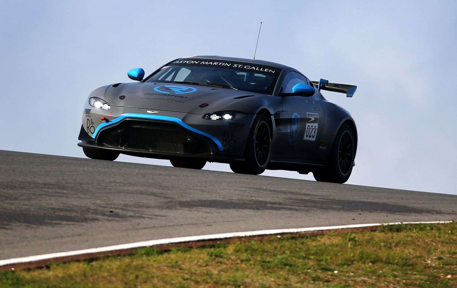 GEORGE GAMBLE'S supercar for the upcoming GT4 European Series ­— the R-Motorsport Aston Martin Vantage AMR GT4.