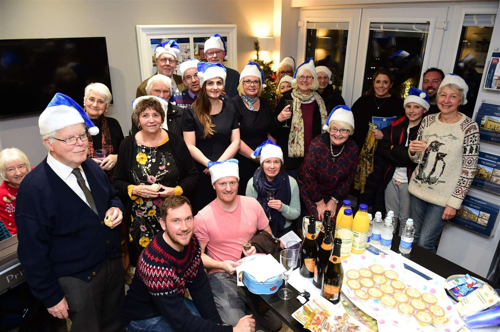 Residents of Romans' Quarter at the Christmas get-together.