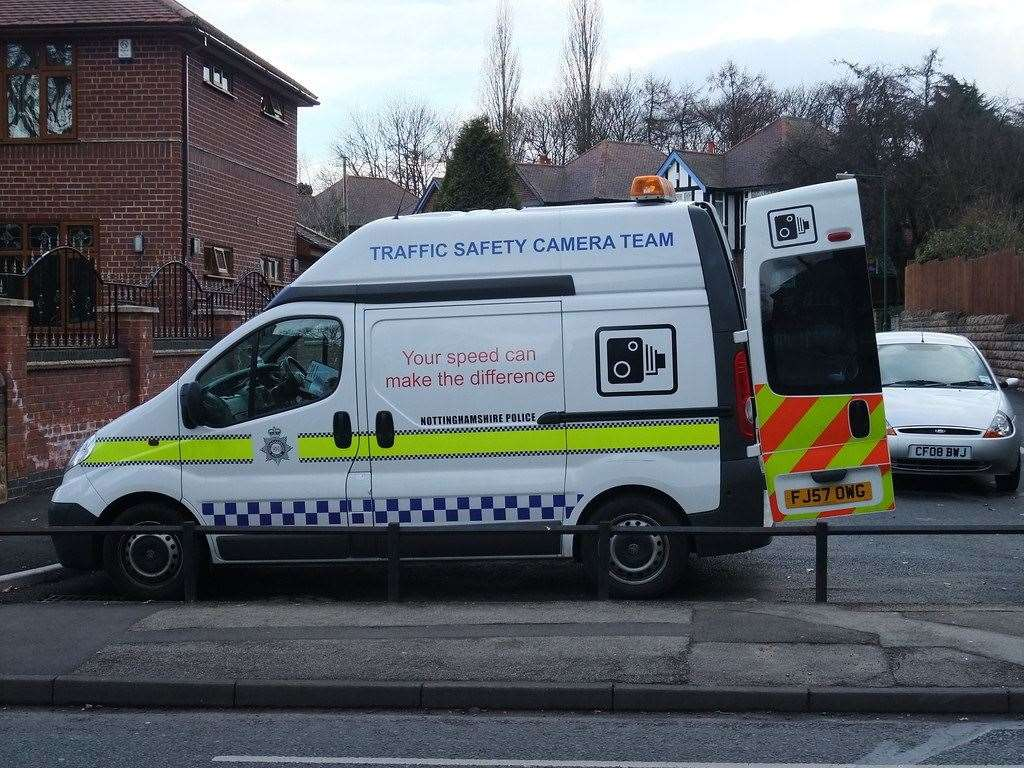Mobile speed cameras in Nottinghamshire. (12056603)