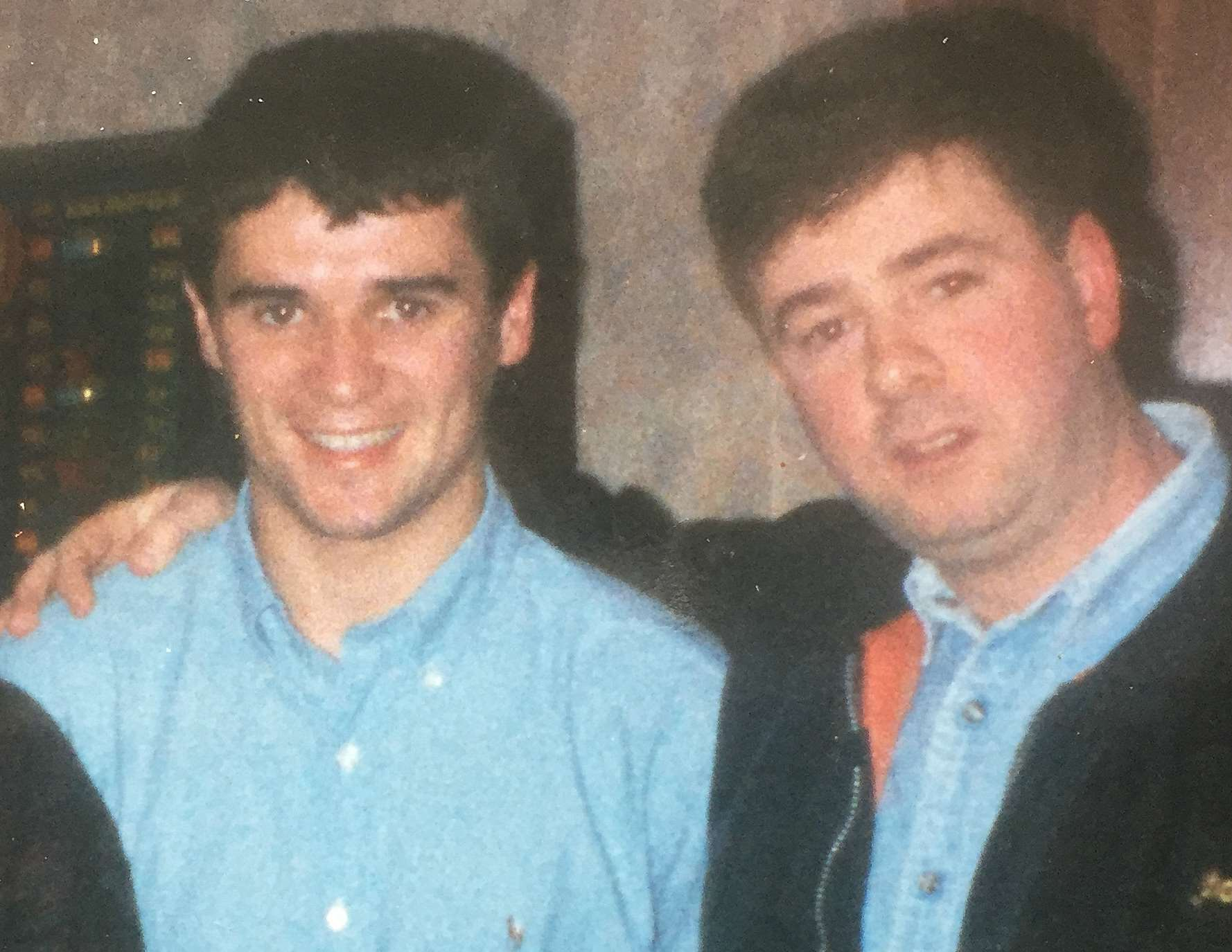 Paul O'Donnell and Roy Keane during Keane's playing days at Forest. They bumped into each other in a pub and Keane stayed with Mr O'Donnell and his friends all evening.